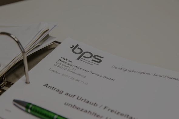 Unterlagen von bps Buemann Personal Service GmbH